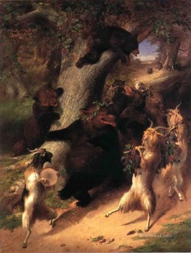 Animal Painting - The March of Selenus William Holbrook Beard