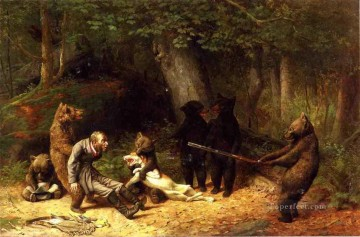 Making Game of the Hunter William Holbrook Beard Oil Paintings