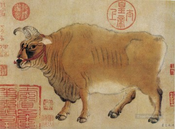 cattle bull cow Painting - Chinese cattle