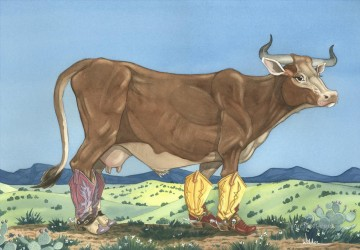 cattle bull cow Painting - cattle 06