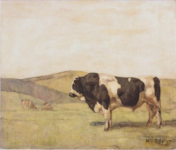 cattle bull cow Painting - the bull 1878