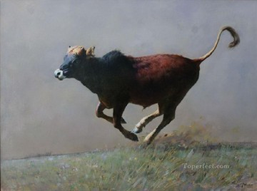 Animal Painting - the running calf
