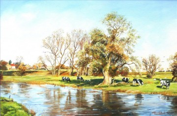 Animal Painting - Cows at Radwell