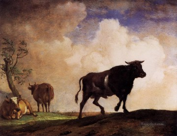 cattle bull cow Painting - Paulus Potter The Bull