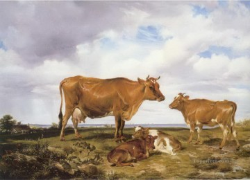 cattle bull cow Painting - cattle 03