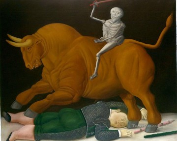 Animal Painting - cattle Fernando Botero