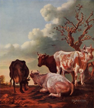 Animal Painting - cow Paulus Potter Pasture