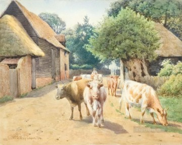 cattle bull cow Painting - william sydney cooper cattle