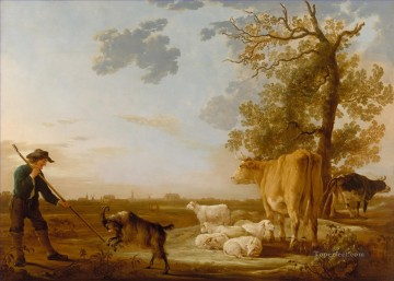 cattle bull cow Painting - Aelbert Cuyp Landscape with cattle