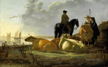 cattle bull cow Painting - Cuyp cows