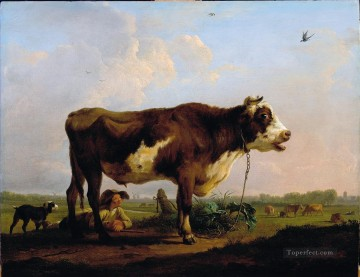 cattle bull cow Painting - Ommeganck Balthazar Paul A Bull