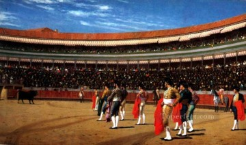 Plaza de Toros The Entry of the Bull Greek Arabian Orientalism Jean Leon Gerome Oil Paintings