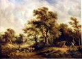 Richard Hilder landscape with gipsy tint bulls