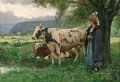 cows and country girl