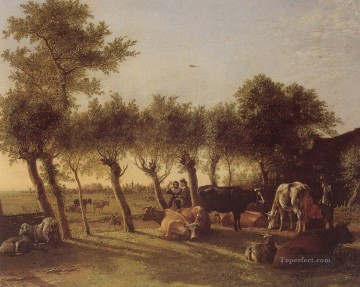 bulls Canvas - Paulus Potter Farm near the Hague 1647 bulls
