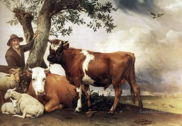 cattle bull cow Painting - Paulus Potter Young Bull