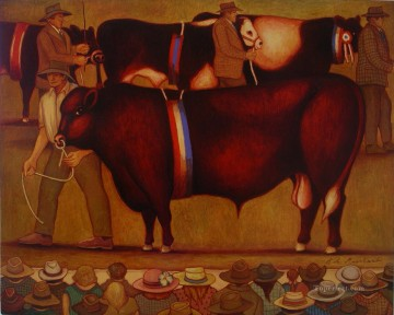 Marchant Bob Champion cattle at The Sydney Show Oil Paintings