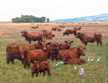 cattle and birds johan hoekstra Oil Paintings