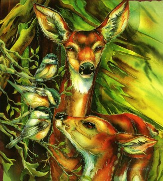 Animal Painting - bird you are so deer to me