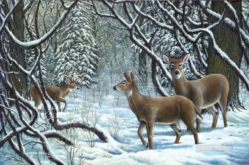 Animal Painting - winter wonderland