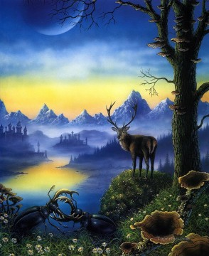 elk stag Oil Paintings