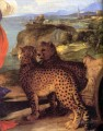 Bacchus and Ariadnedetail Tiziano Titian panther