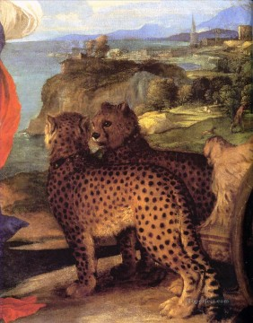 Animal Painting - Bacchus and Ariadnedetail Tiziano Titian panther
