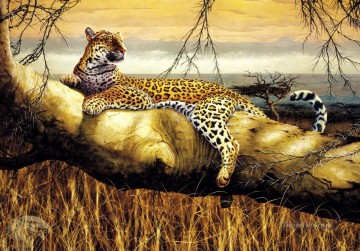 Leopard Painting - Solitary Hunter Leopard