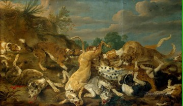 vos painting - Vos Pauwel de The Leopard Hunt