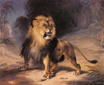 William John Huggins A Lion Oil Paintings