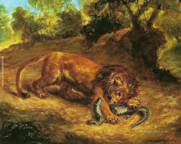 lion prey on Oil Paintings