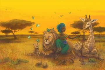 African Oil Painting - Nuru the African princess by Adelaida