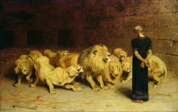 Daniel In The Lions Briton Riviere beast Oil Paintings
