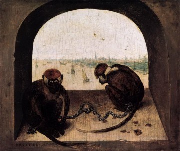 monkey at window Oil Paintings
