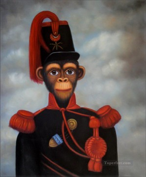 Animal Painting - monkey captain