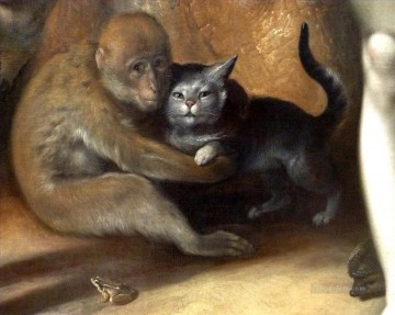 Monkey Painting - Cornelis Cornelisz van Haarlem The Fall of Man Monkey Cat Frog Hedgehog
