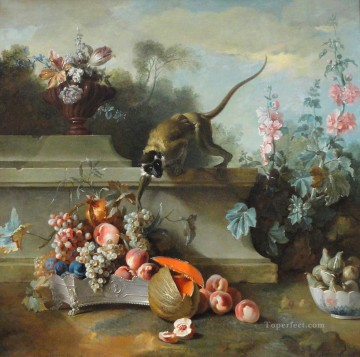 still life with monkey fruit Oil Paintings
