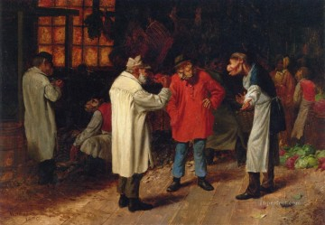 Animal Painting - Politics in the Market William Holbrook Beard monkeys in clothes