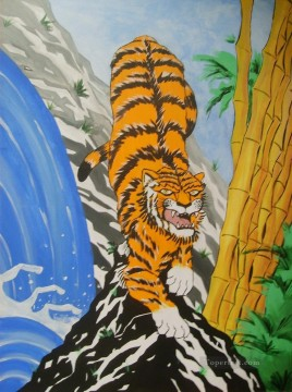Animal Painting - Japanese Tiger