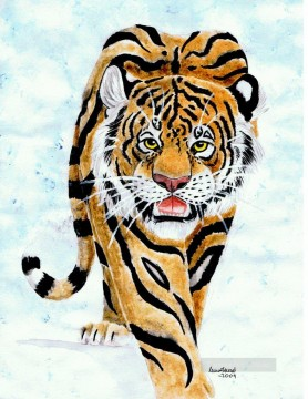 Animal Painting - Tiger in snow