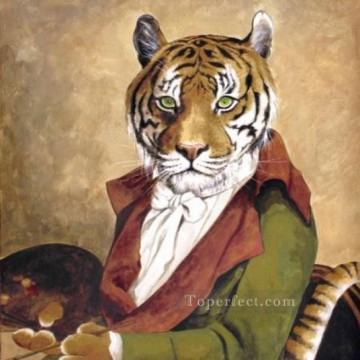 Tiger Painting - clothing tiger