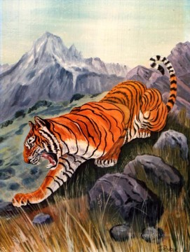 Animal Painting - tiger 17