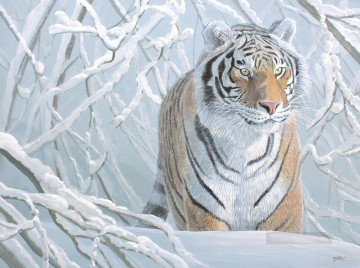Tiger Painting - tiger snow