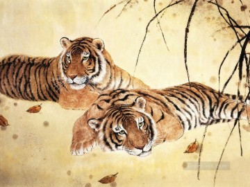 Chinese Painting - tigers pictures chinese