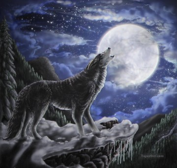 wolf moon Oil Paintings