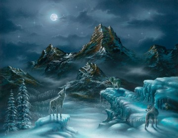 Sprit Song wolves Oil Paintings