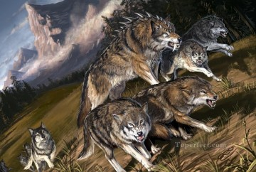 wolf 8 Oil Paintings