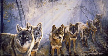 wolf 9 Oil Paintings