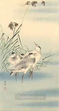 Animal Painting - sandpipers Ohara Koson birds