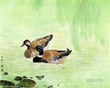 Bird Painting - Chinese art mandarin duck birds